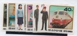 Serie Trenes  Nº 1917/22  De Corea Del Norte - Treni