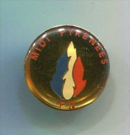 PINS POLITIQUE FN FRONT NATIONAL MIDI PYRENEES - Pin's