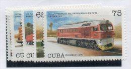 Serie Nº  3682/86  Cuba - Treni