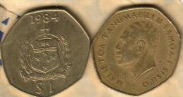 SAMOA $1 TALA POPE PAUL VI VISIT FRONT EMBLEM BACK 1970 UNC KM? READ DESCRIPTION CAREFULLY !!!