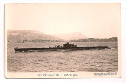 "Sous-Marin - "" MONGE "" - Marius Bar Phot Toulon - - Sous-marins"