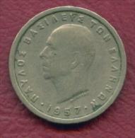 F3167 / - 1 Drachma  - 1957  - Greece Grece Griechenland Grecia - Coins Munzen Monnaies Monete - Grèce