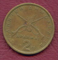 F3179 / - 2  Drachmai  - 1978  - Greece Grece Griechenland Grecia - Coins Munzen Monnaies Monete - Grèce