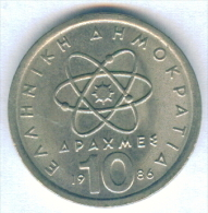 F3189 / - 10 Drachmai  - 1986  - Greece Grece Griechenland Grecia - Coins Munzen Monnaies Monete - Grèce