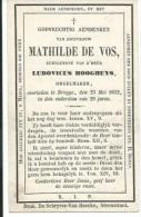DOODSPRENTJE Mathilde De Vos (Brugge 1852) (echtgen.Ludovicus Hooghuys) - Devotieprenten