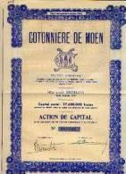 """BRUXELLES """"Cotonnière De MOEN"""" - Textiel"""