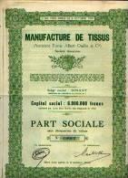 """DINANT """"Manufacture De Tissus SA"""" - Part Sociale - Textile"""