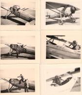PHOTO AVIATION ARMEE AIR PILOTE AVION COUCOU HELICE PARACHUTE EQUIPEMENT BASE ESCADRILLE ECOLE ???