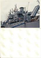 PHOTOGRAPHIE Argentique D'ART à Bord D´un Bateau De GUERRE Grand Format 21X15 Animée Marin - Bateaux