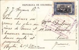 COLOMBIE - 1931 - CARTE POSTALE De BOGOTA Pour PARIS - Colombie