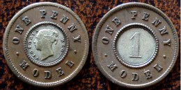 (J) GREAT BRITAIN: Silver Penny MODEL 1848 XF (107) XRARE!!   LIQUIDATION SALE!!!!! - 1816-1901 : Acuñaciones S. XIX