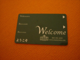 U.S.A. - Country Inn Hotel Magnetic Key Card - Cartes D'hotel