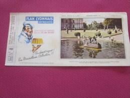 BUVARD Publicitaire:Flan Lyonnais Entremet: Château De Valençay -Loire N°8  >>( Photos Recto Verso) - Food
