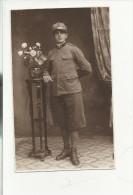 ANTICA FOTO MILITARE SOLDATO IN PIEDI - War, Military