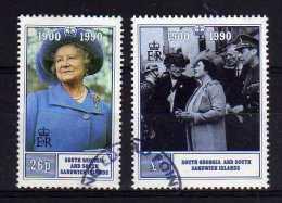 South Georgia & Sandwich Islands - 1990 - Queen Mother 90th Birthday - Used - Géorgie Du Sud