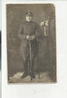 ANTICA FOTO MILITARE SOLDATO CON  ELMO - War, Military