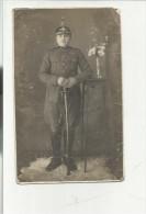 ANTICA FOTO MILITARE SOLDATO CON  ELMO - Guerra, Militari