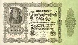 Deutschland, Germany - 50000 Mark, Reichsbanknote, Ro. 79 B ,  ( Serie G  ) UNC, 1922 ! - [ 3] 1918-1933 : Weimar Republic