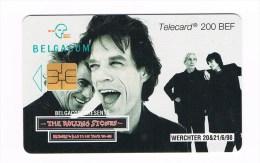 ° BELGIE  BELGACOM 1 TELEFOONKAART THE ROLLING STONES   200 BEF  1998 - België
