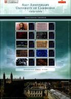GREAT BRITAIN - 2009   ANNIVERSARY OF CAMBRIDGE UNIVERSITY  COMMEMORATIVE SHEET - Fogli Completi