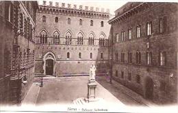 ITALIA-TOSCANA-SIENA: CARTOLINA POSTALE-PALAZZO SALIMBENI. NON CIRCOLATA. GECKO.