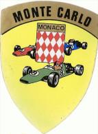 Vieux Autocollant Monte Carlo Monaco Grand Prix Années 70 - Automobile - F1