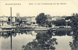 MAGDEBURG, Blick Von Der Friedrichstadt Auf Den Werdere - 2 Scans - Magdeburg