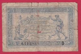 50 CTS TRESORERIE AUX ARMEES 1914    A 15414 - Bons & Nécessité