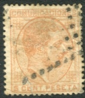 Ed 191 Usado Alfonso XII Emisión De 1878 5 Cts Naranja - Usados