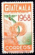 GUATEMALA 1968 Olympic Games, Mexico - 8c Mayan Ball Game Ring And Resplendent Quetzal   FU - Guatemala