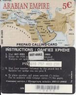 GREECE - Arabian Empire, Amimex Prepaid Card 5 Euro(807 6662), Tirage %5000, 05/05, Used - Greece