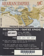 GREECE - Arabian Empire, Amimex Prepaid Card 5 Euro(807 8887), Tirage %5000, 05/05, Used - Griechenland