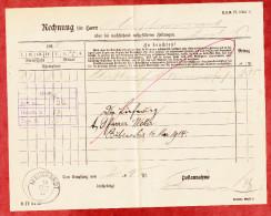 Zeitungsrechnung, Gestempelt Mainhardt 1911, Verrechnungsstempel Bubenorbis 1912 (51974) - Germany