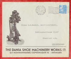 Illustrierter Firmenbrief, Dania Shoe Machinery, EF Karavelle, Kobenhavn Nach Frankfurt 1939 (51976) - 1913-47 (Christian X)