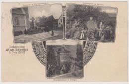 Jena, Schlachtfelder, Soldatengräber, Vierzenheiligen, Sachsengrab, Bissingdenkmal, Postkarte, Militär - Andere Kriege