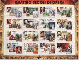23176 San Marino 1999 Foglietto Quattro Secoli Di Opera  £ 800 X 16 Nuovo - Blocchi & Foglietti