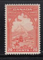 Canada MNH Scott #E3 20c Special Delivery, Orange - Exprès