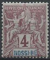 NOSSI-BE -  4 C. Groupe Neuf - R Au Lieu De B Dans NOSSI-BE - Nossi-Bé (1889-1901)