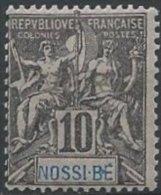 NOSSI-BE -  10 C. Groupe Neuf - B Tenant à E Dans NOSSI-BE - Nossi-Bé (1889-1901)