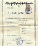 REVENUE-DUE-TAX STAMP-KROATIEN-1936 - Brieven En Documenten
