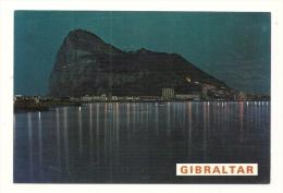 Cp, Le Rocher De Gibraltar, Vue Nocturne - Gibraltar