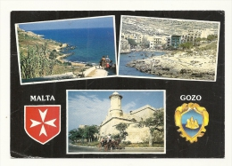 Cp, Malte, Gozo, Multi-Vues, Voyagée 1995 - Malte