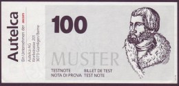 """Test Note  """"Autelca """",  100, Both Sides ,UNC  , Rare - Schweiz"""