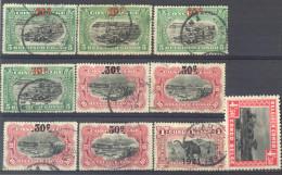 _3L-567: Restje Van 9 Zegels  Met Opdruk..... Om Verder Uit Te Zoeken.. - Belgisch-Kongo