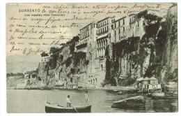 SORRENTO : Casa Imperiale Hôtel Tramontano 1905   ( 2  SCANS ) Cachet Hotel Royal ! - Italia