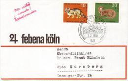 Germania, Germany 1968 Lettera Affrancata Lontra,Fischotter - Gattopardo,Wildkatze - Annullo Castoro,Biber - Francobolli