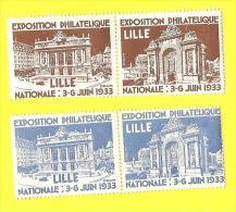 V004 EXPOSITION PHILATELIQUE NATIONALE DE LILLE, 1933 - Exposiciones Filatelicas