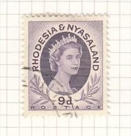 Queen Elizabeth II - 1954 - Rhodesien & Nyasaland (1954-1963)