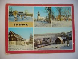 Germany: SCHELLERHAU - Jugendherberge Georg Schumann, Kirche, Bergklause, Betriebsferienheim Des VEB Pentacon,1983 Used - Schellerhau