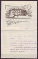 Lettre  Ancienne  ILLUSTREE  De  L Ecole STE CLEMENCE A FAYET Par ST QUENTIN Aisne - Images Religieuses